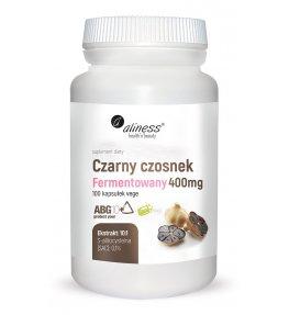 Aliness Czarny czosnek fermentowany ABG10+® 400 mg - 100 kapsułek