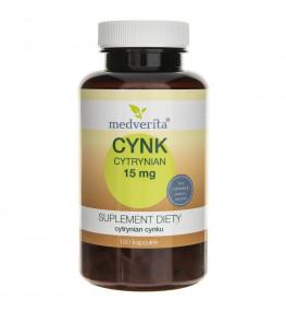 Medverita Cynk Cytrynian 15 mg - 180 kapsułek