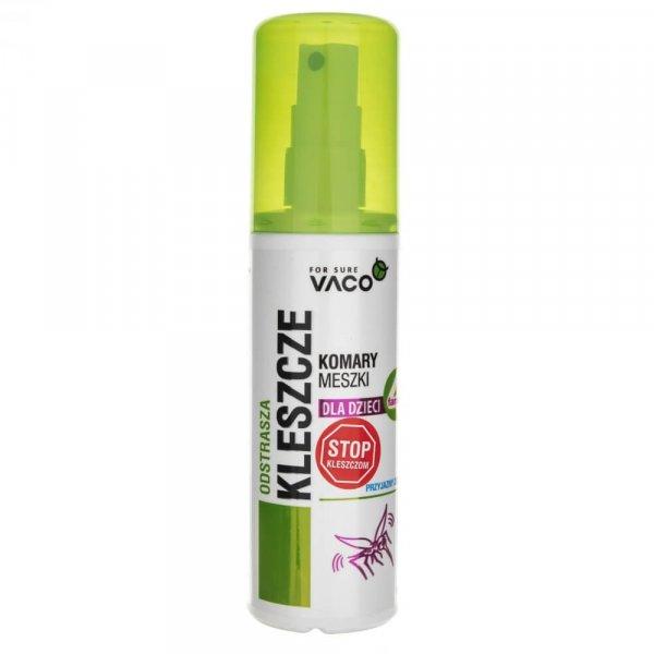 VACO Płyn na kleszcze, komary i meszki dla dzieci - 80 ml
