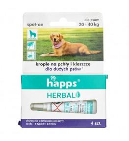 Happs Krople na pchły i kleszcze dla dużych psów 20-40 kg - 4 sztuki