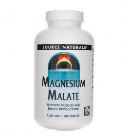 Source Naturals Jabłczan Magnezu 1250 mg - 180 tabletek