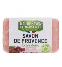 Mydło marsylskie róża 100 g - Maître Savon