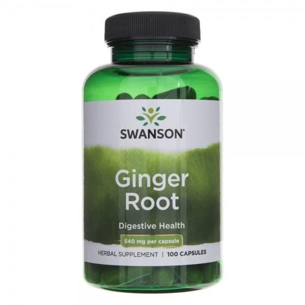 Swanson Imbir (Ginger Root) 540 mg - 100 kapsułek
