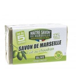 Mydło marsylskie oliwkowe 72% - 5 x 100g