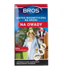 Bros Siatka magnetyczna na drzwi na owady biała 160 x 220 cm