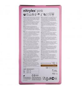 Mercator Rękawiczki diagnostyczne nitrylex® pink XL - 100 sztuk