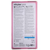 Mercator Rękawiczki diagnostyczne nitrylex® pink M - 100 sztuk