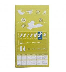 Natracare Niebielone chlorem wkładki higieniczne Long - 16 sztuk