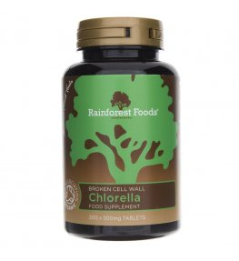 Rainforest Foods Chlorella BIO 500 mg - 300 tabletek