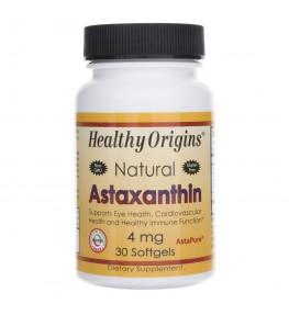 Healthy Origins Astaxanthin (Astaksantyna) 4 mg - 30 kapsułek