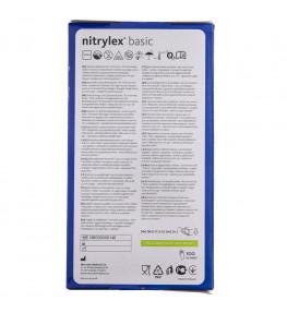 Mercator Rękawiczki diagnostyczne nitrylex® basic fioletowe S - 100 sztuk