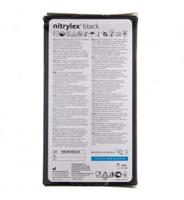 Mercator Rękawiczki diagnostyczne nitrylex® black M - 100 sztuk