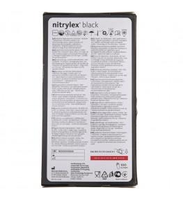 Mercator Rękawiczki diagnostyczne nitrylex® black L - 100 sztuk