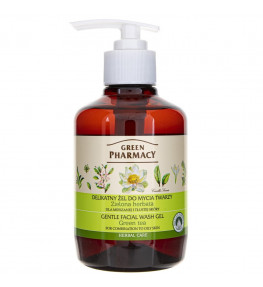 Green Pharmacy Delikatny żel do mycia twarzy Zielona herbata - 270 ml