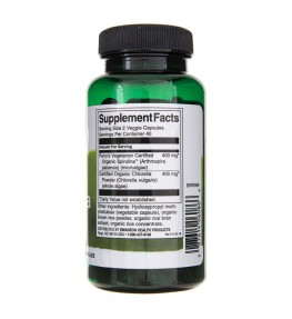 Swanson Spirulina i Chlorella organiczne - 90 kapsułek