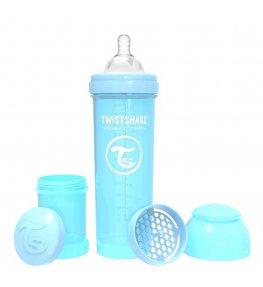 Twistshake Butelka antykolkowa Niebieska - 330 ml