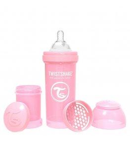 Twistshake Butelka antykolkowa Różowa - 260 ml