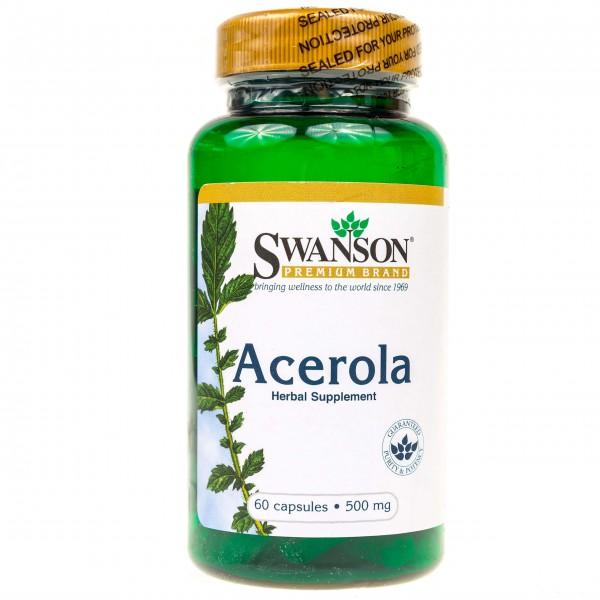 Swanson Acerola 500 mg - 60 kapsułek