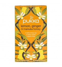 Pukka Herbata Lemon, Ginger & Manuka Honey - 20 saszetek