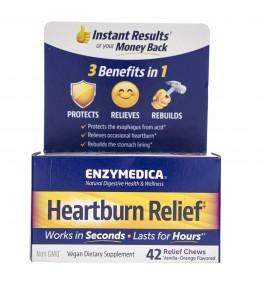 Enzymedica Heartburn Relief - 42 tabletki do ssania
