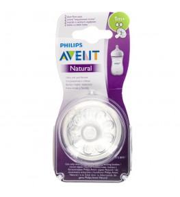 Philips Avent Natural 2.0 Smoczek o wolnym wypływie 1m+ - 2 sztuki