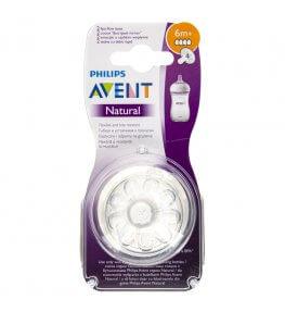 Philips Avent Natural 2.0 Smoczek o szybkim przepływie 6m+ - 2 sztuki