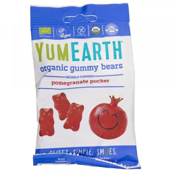 YumEarth Żelki o smaku Granatu z witaminą C - 50 g