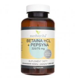 Medverita Betaina HCL + Pepsyna - 120 kapsułek