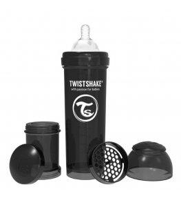 Twistshake Butelka antykolkowa Czarna - 330 ml