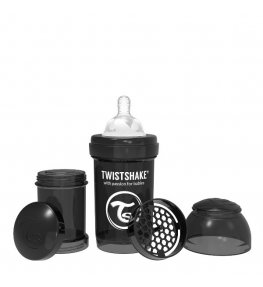 Twistshake Butelka antykolkowa Czarna - 180 ml