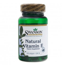 Swanson Witamina E naturalna 200 IU - 100 kapsułek