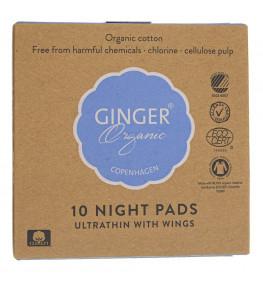 GingerOrganic Podpaski na noc - 10 sztuk