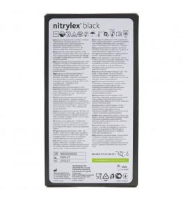 Mercator Rękawiczki diagnostyczne nitrylex® black S - 100 sztuk