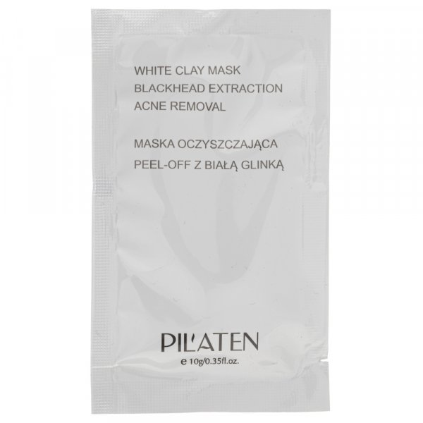 Pilaten Maska do twarzy peel - off z białą glinką - 1 saszetka 10 g