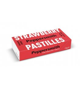 Peppersmith Bezcukrowe pastylki z ksylitolem Strawberry - 15 g