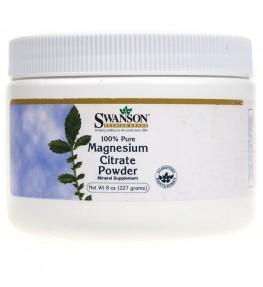 Swanson Cytrynian Magnezu w proszku 100% czystości - 227g