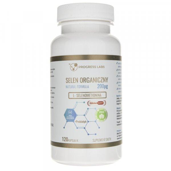 Progress Labs Selen Organiczny  200 µg - 120 kapsułek