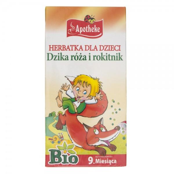 Apotheke Herbatka Bio dla dzieci Dzika róża i Rokitnik - 20 saszetek