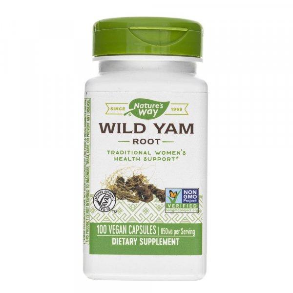 Nature's Way Wild Yam Root 425 mg - 100 kapsułek