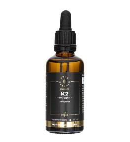 Aura Herbals Premium Witamina K2 100 mcg Vegan MenaQ7® - 50 ml