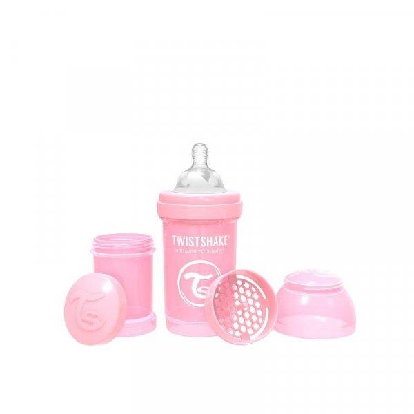 Twistshake Butelka antykolkowa Różowa - 180 ml
