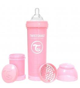 Twistshake Butelka antykolkowa Różowa - 330 ml
