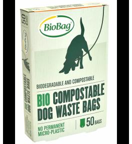 Biobag Biodegradowalne i kompostowalne worki na psie odchody - 50 sztuk