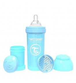 Twistshake Butelka antykolkowa Niebieska - 260 ml