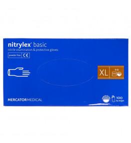 Mercator Rękawiczki diagnostyczne nitrylex® basic fioletowe XL - 100 sztuk