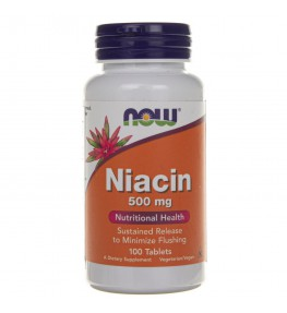 Now Foods Niacin (Niacyna) 500 mg - 100 tabletek