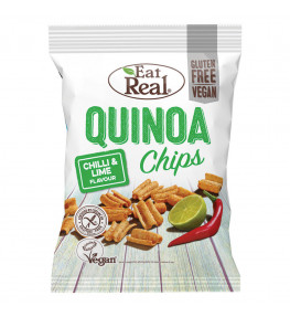 Eat Real Chipsy z mąki Quinoa o smaku chili i limonki - 80 g