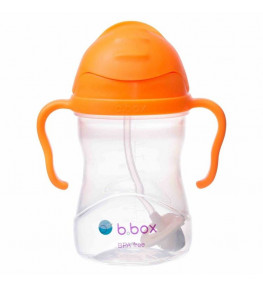 B.Box Bidon ze słomką Pomarańczowy - 240 ml