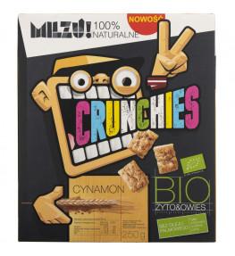 Milzu Płatki Crunchies żytnio - owsiane cynamonowe - 250 g