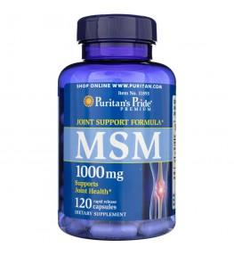 Puritan's Pride MSM (siarka organiczna) 1000 mg - 120 kapsułek